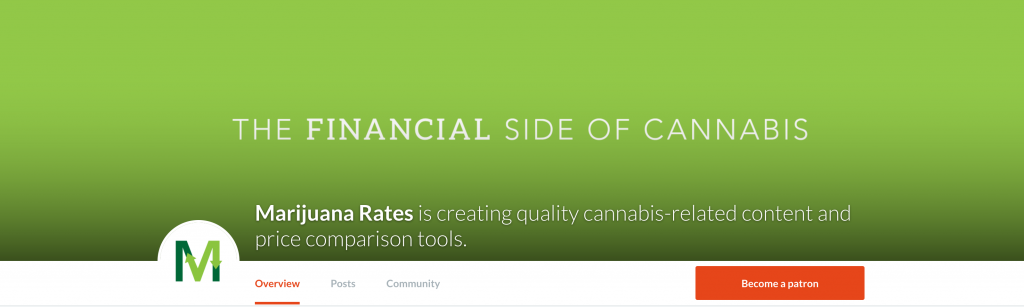 Patreon Marijuana Rates page