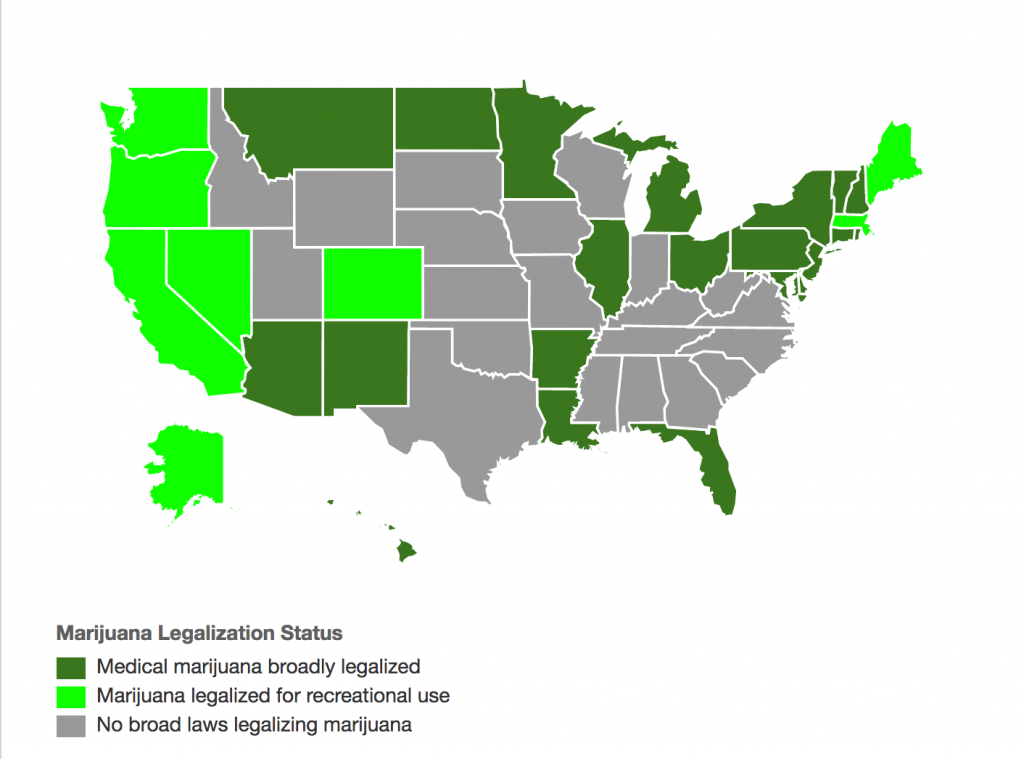 Map of marijuana legalization
